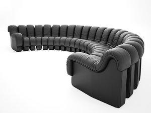 ds-600 semi-circle sofa model