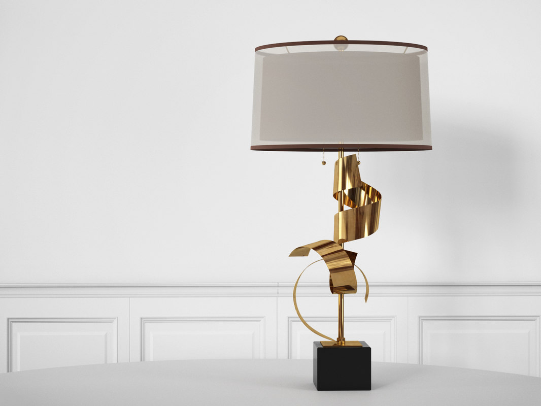 3D brass curls lamp
