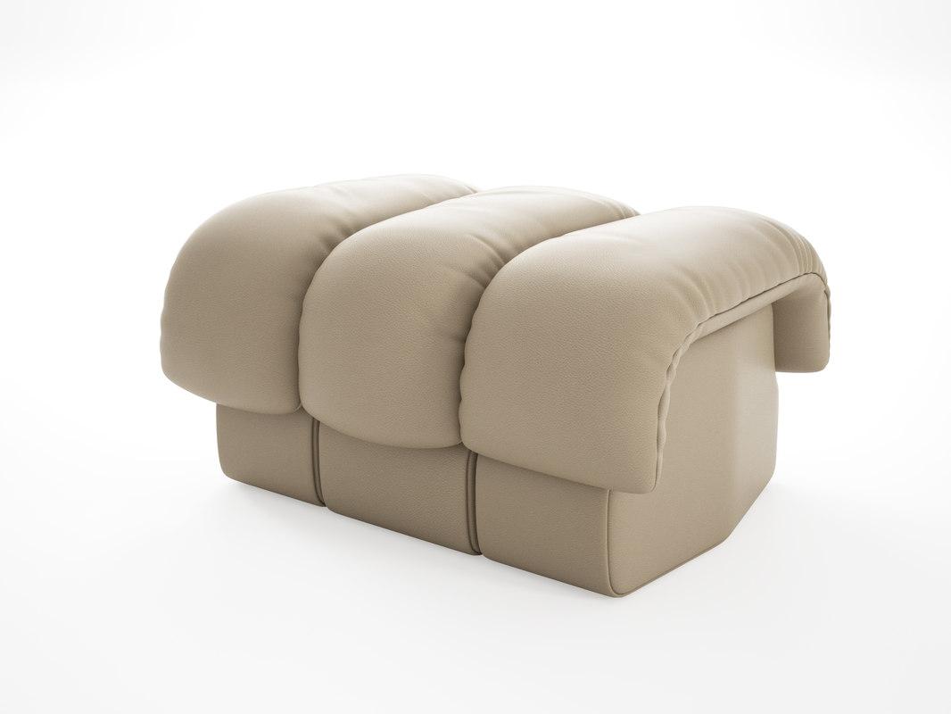 ds-600 footstool 3D model