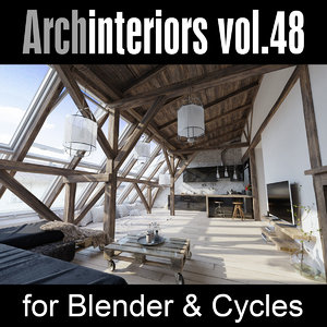 3D archinteriors vol 48 blender