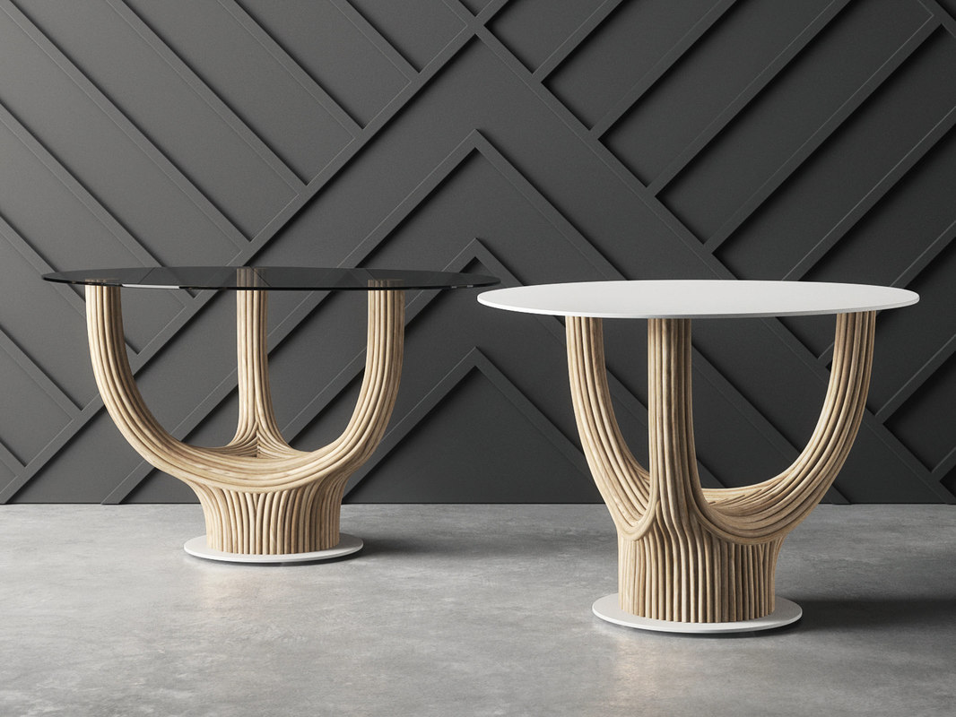 acacia coffee table 3D model