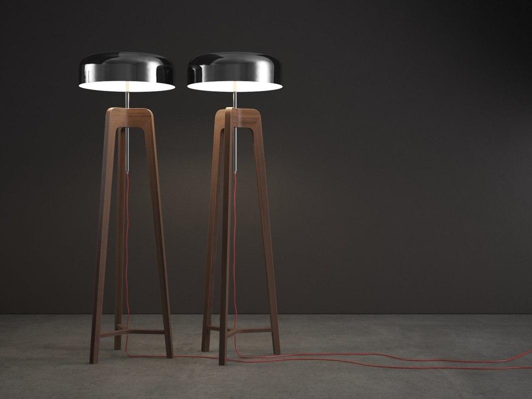 3D pileo floor lamp