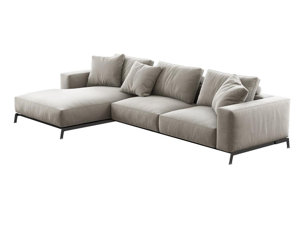 3D ettore corner sofa