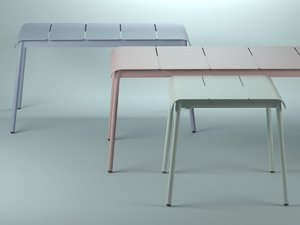 3D corail dining tables model