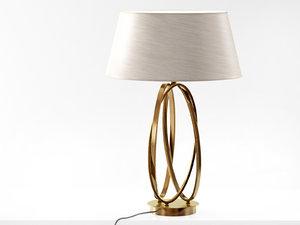 brass table lamp 3D