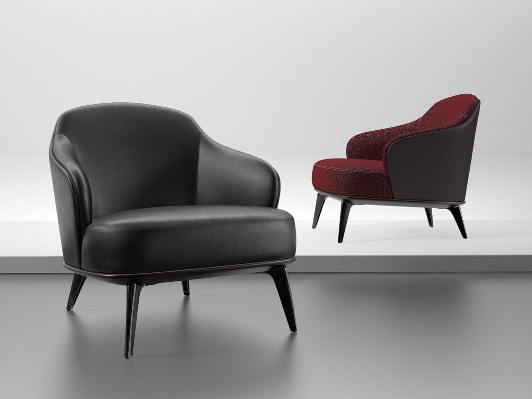 3D leslie armchair