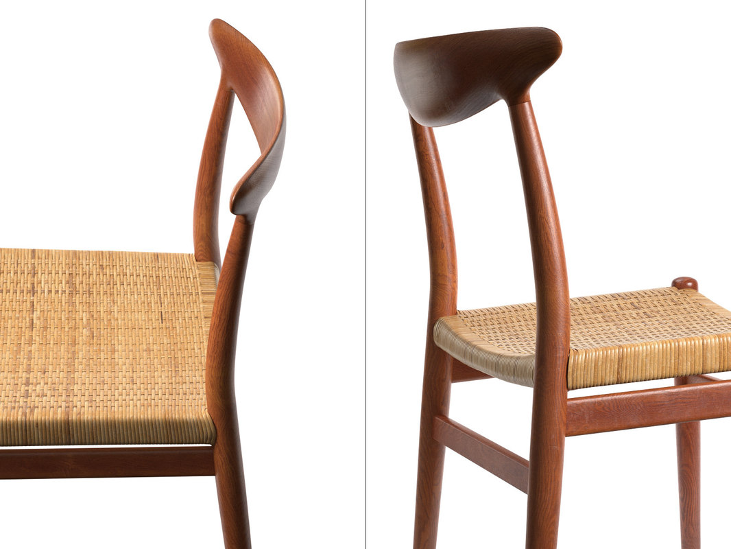 3D w2 dining chair model