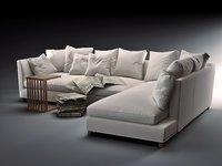 3D model victor modular sofa