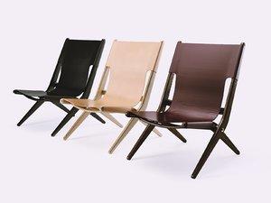 3D saxe folding chair model