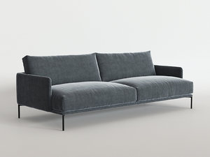 3D baron sofa model