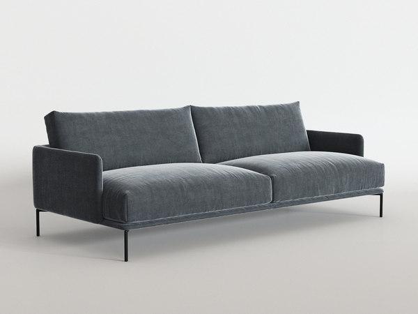 3D baron sofa model