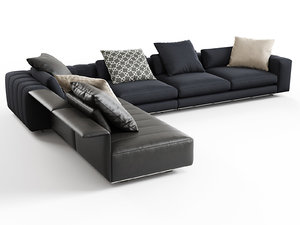 3D model freeman corner sofa b
