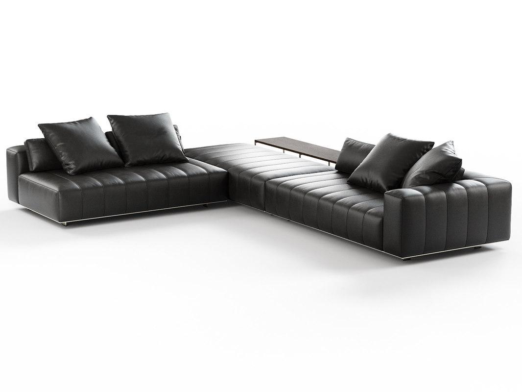freeman corner sofa h 3D model