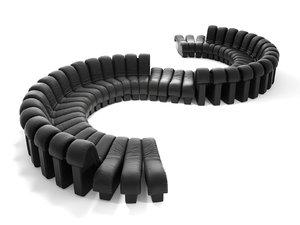 3D ds-600 modular sofa
