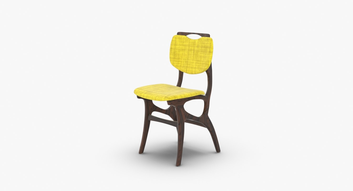 vintage dining chair 3D