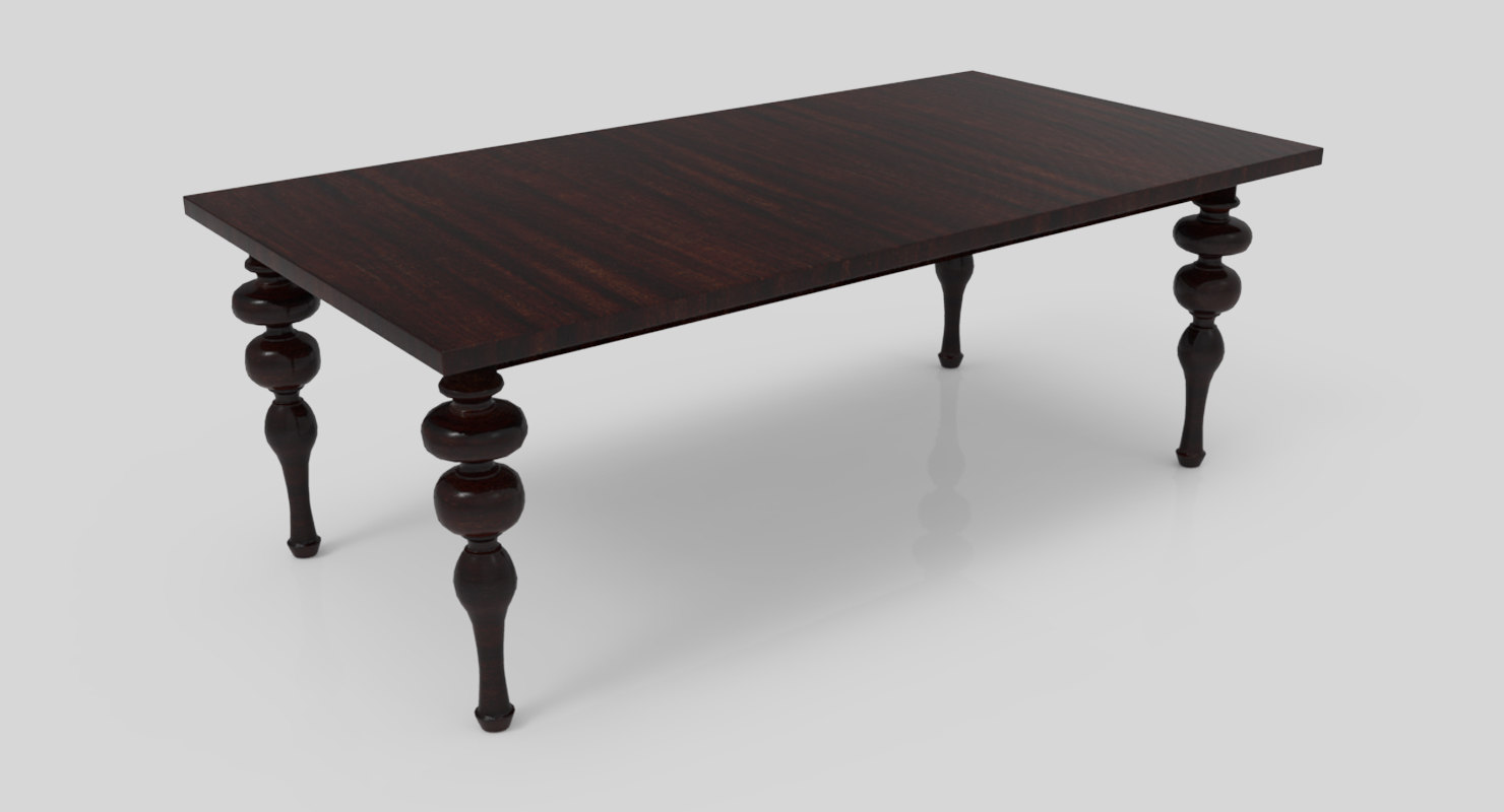 traditional dining table model
