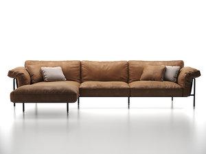 ds-610 corner sofa 3D model