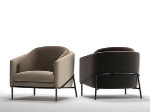 3D fil noir armchair