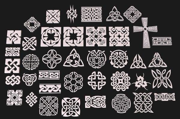 3D celtic ornament pack