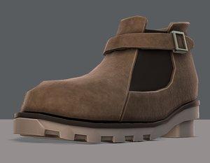 shoes cartoonv12 character cartoon 3D model