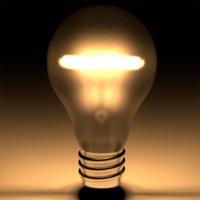 3D model lightbulb light