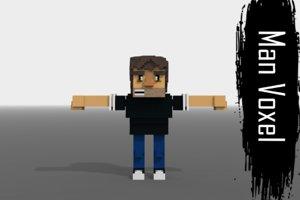 3D model voxel man