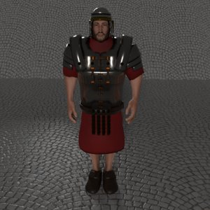 ancient rome soldier 3D