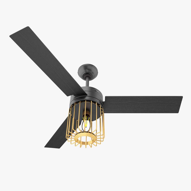 3D model hunter ronan ceiling fan