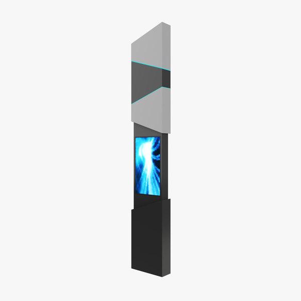 3D kiosk info model
