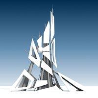 future generic building 3D model