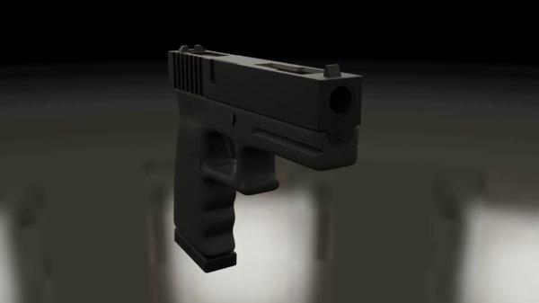 3D model glock 18c pistol