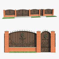 fence house 3D model
