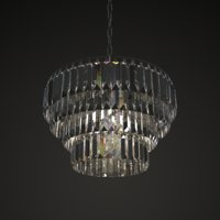 mid-century crystal chandelier 3D model