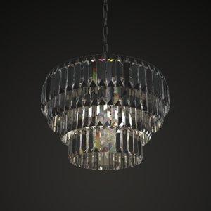 mid-century crystal chandelier 3D model