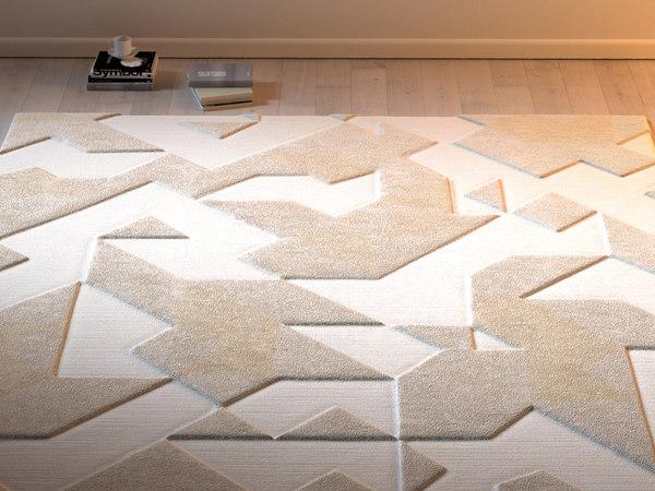 asymetric wool rug 3D model