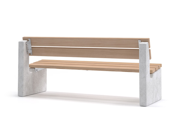 maro outdoor bench backrest 3D model