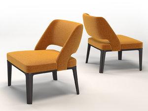 3D model owens armchair
