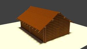 3D house log