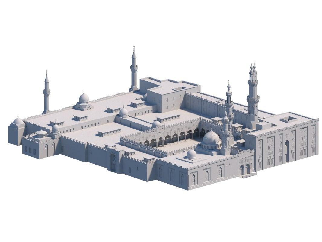 3D mosque cairo model