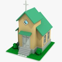 cartoon church model