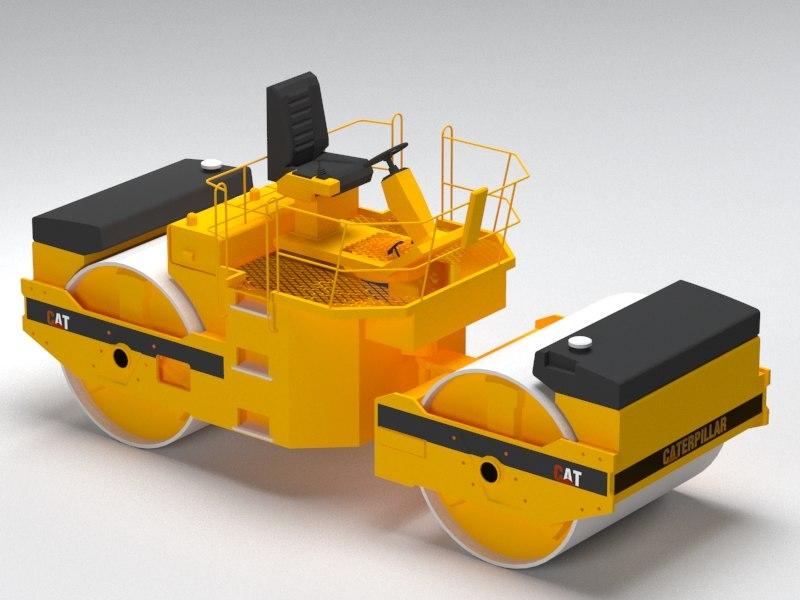 3D model compactor roads construction