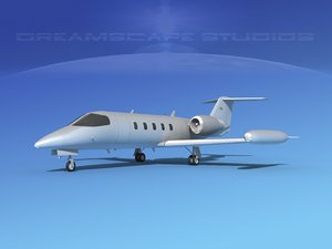 learjet 35 business jet 3D model
