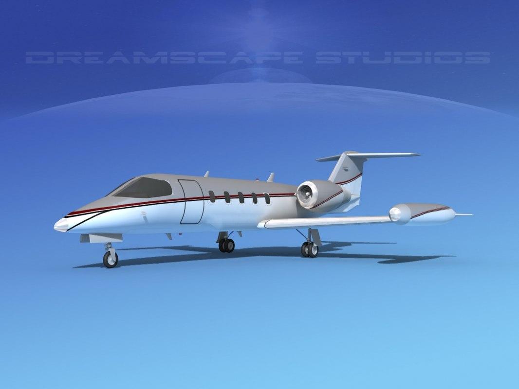 learjet 35 business jet 3D model