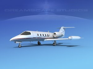 learjet 35 business jet 3D