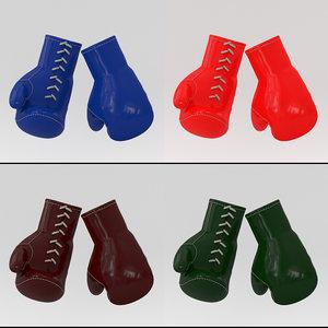 gloves boxing sport model