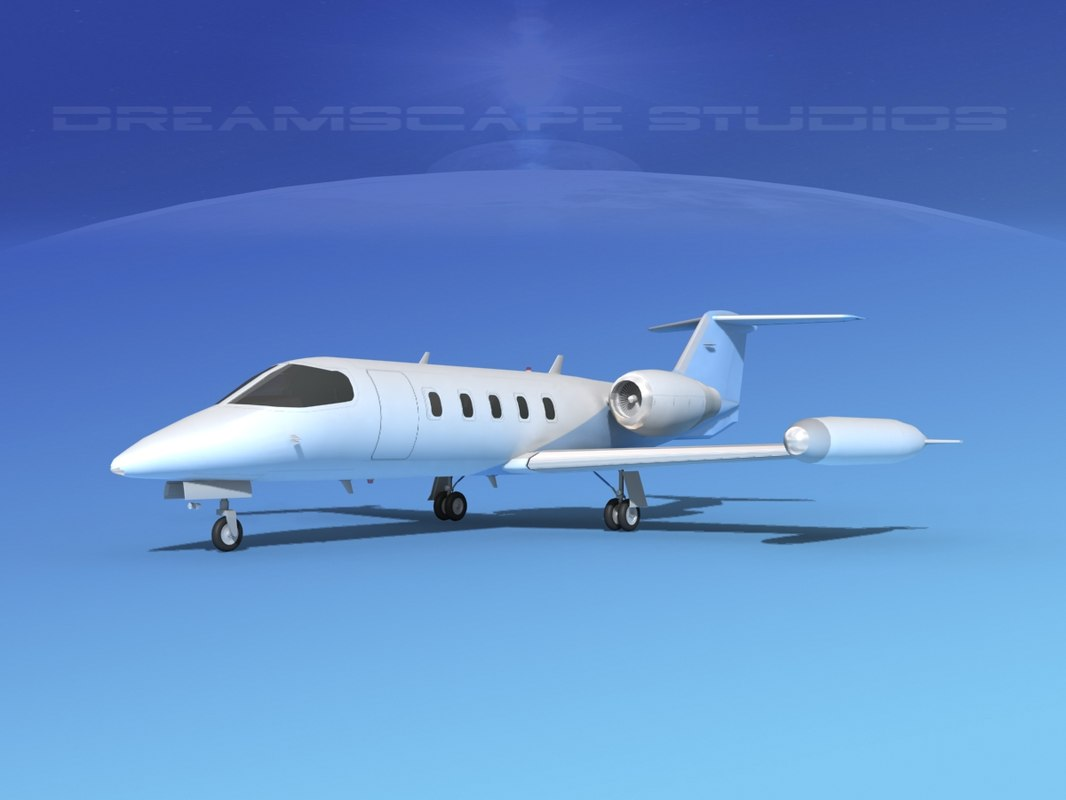 3D learjet 35 business jet