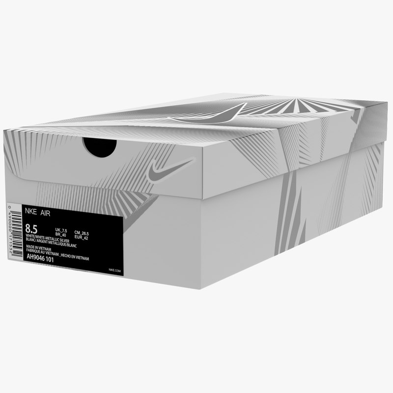3D box shoes sport model