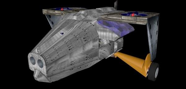 3D model drone coptero