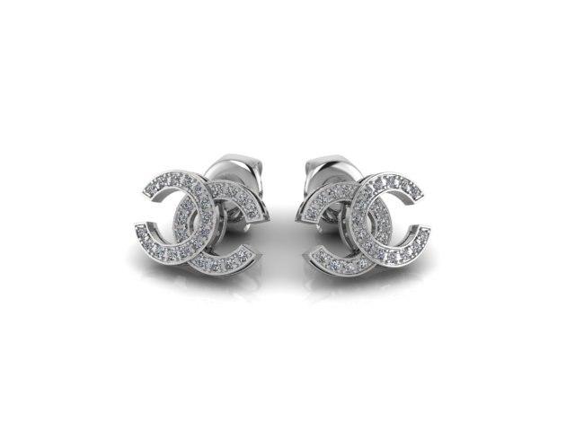 earring pendant set 3D model