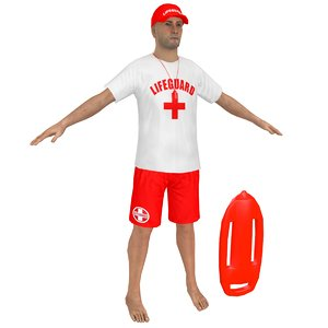 lifeguard man whistle 3D model